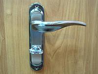 Ручка дверная Gelaris 12-51 Волна wc черный + сатин