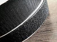 Липучка усиленная для одежды и обуви метражная Ширина 4см цвет черный