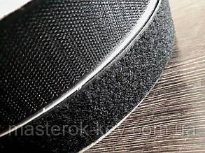 Липучка усиленная для одежды и обуви метражная Ширина 5см цвет черный
