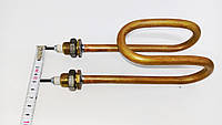 Тэн медный 2кВт (2000w) на 220 в, для дистилятора с латуневыми  штуцерами-18 мм.