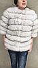 Шубка-куртка из меха песца, белая