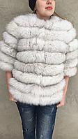 Шубка-куртка из меха песца, белая, фото 1