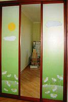 Шкафы купе с рисунком для детей