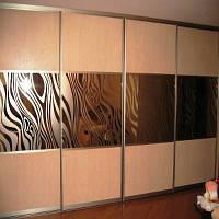 Шкафы купе с дсп фасадом и рисунком на зеркале