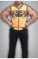 Мужская безрукавка желтая