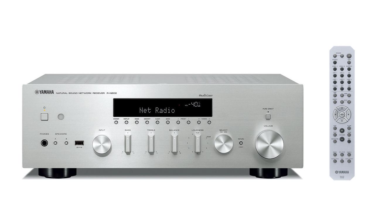 Сетевой аудиопроигрыватель Yamaha R-N602 Silver