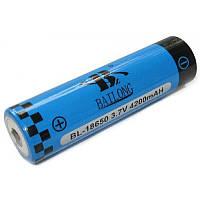 Аккумуляторная литий-ионная батарея Bailong BL 18650, 4200 m/Ah, 3.7V