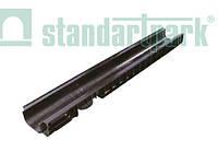 Лоток водоотводящий пластиковый  с вертикальным водоотводом глубиной 55 мм PolyMax Basic 10.15.06