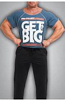 Мужская футболка темно синяя