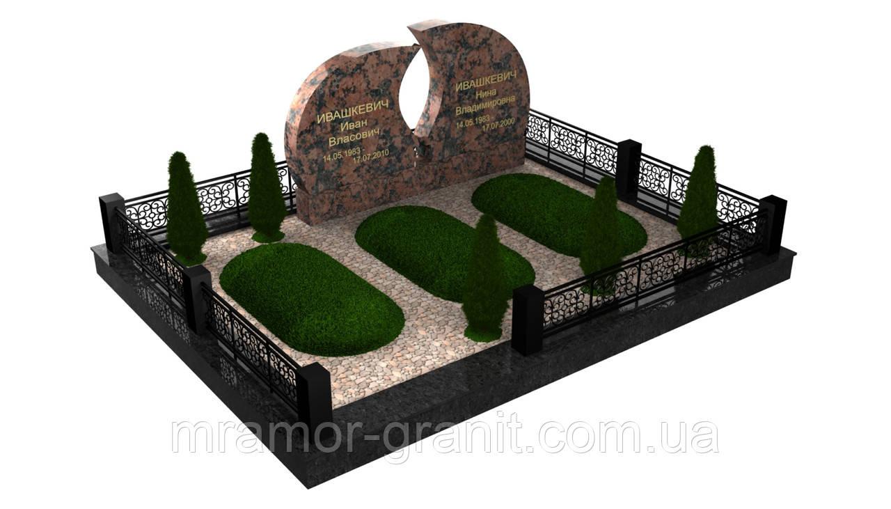 Мемориальный комплекс из гранита П - ЭМК 156