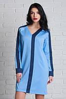 Модное платье прямого пошива