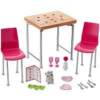 Barbie Мебель для кукол Отдых дома Обеденный стол / Barbie Dining Set & Kitten