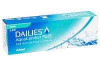 Контактные линзы однодневные торические Dailies Aqua Toric