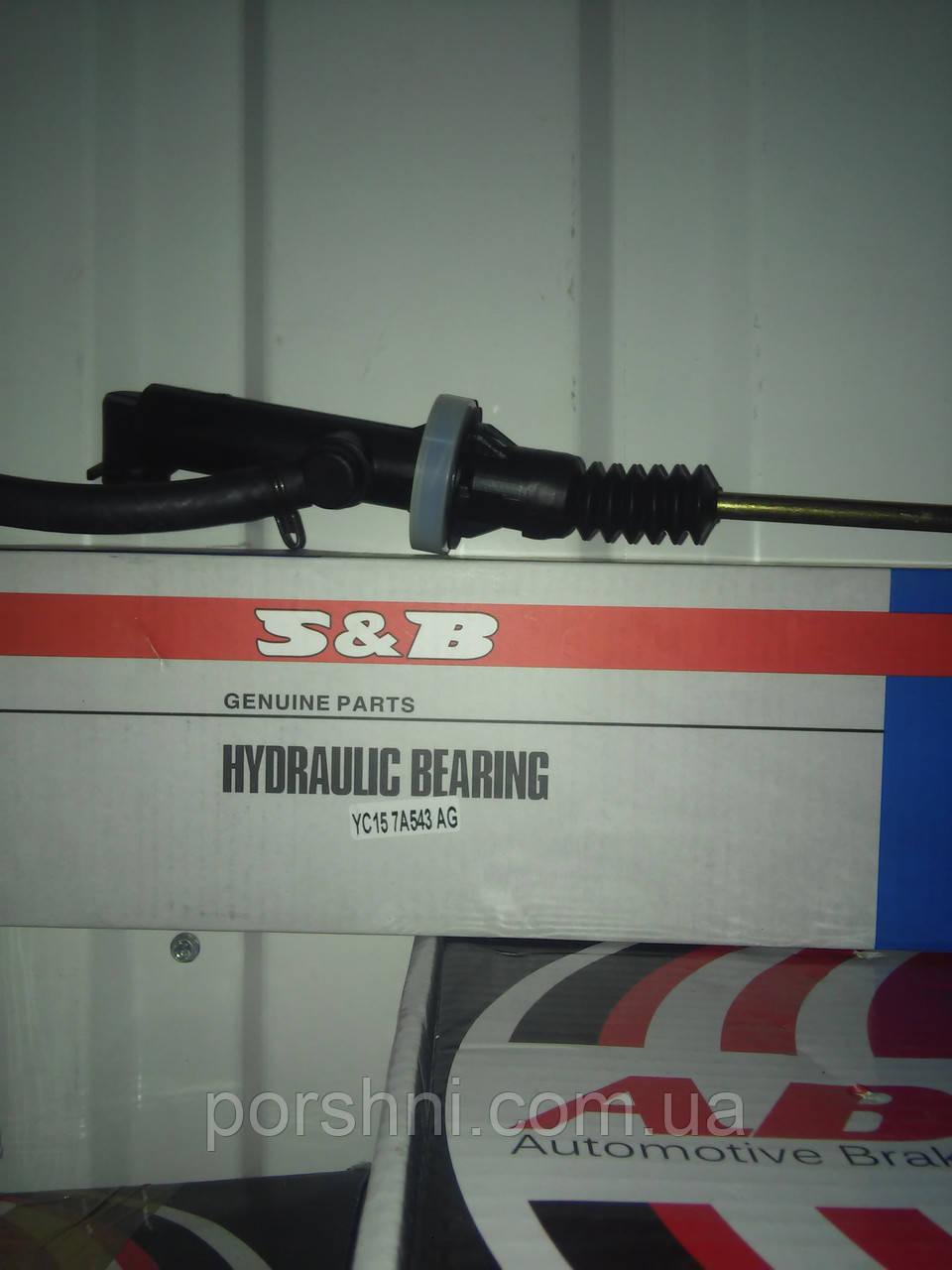 Главный  цилиндр сцепления Ford  Тransit  2.4  2001 -- мет шток  S&B  YC157A543AG