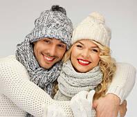 Покупайте вязаные шапки и вязаные зимние аксессуары с зимней символикой к Дню Святого Валентина