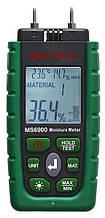 Вологомір деревини і будівельних матеріалів Mastech MS6900 (0-60%) (-10.0 - 50.0 °C) (10... 90%) з 7 режимами