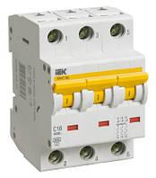 Автоматичний.вимикач ВА 47-60 3Р 16А 6 кА  характеристика С ІЕК