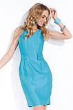 Платье женское летнее без рукавов ZAPS LINA, голубое, розовое, фото 2