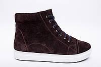 Ботинки №332-4 коричневый замш