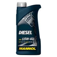 Моторное минеральное масло MANNOL DIESEL 15W-40 1л