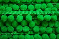 Тасьма с помпонами 10 мм зеленые
