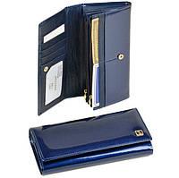 Кошелек женский кожаный лаковый Bretton Gold W501 blue, фото 1