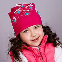 """Демисезонная  шапка для девочек """"Пуговки"""", фото 1"""