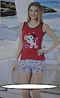 Женский комплект для отдыха и сна Комплект состоит из майки и шорт. Размерный ряд 44,46,48. Состав