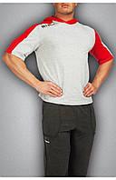 Сіра чоловіча футболка c червоним