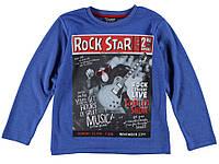 Реглан для мальчика LC Waikiki синего цвета с надписью Rock star 100% хлопок