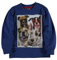 Реглан для мальчика LC Waikiki синего цвета с собачками на груди 100% хлопок