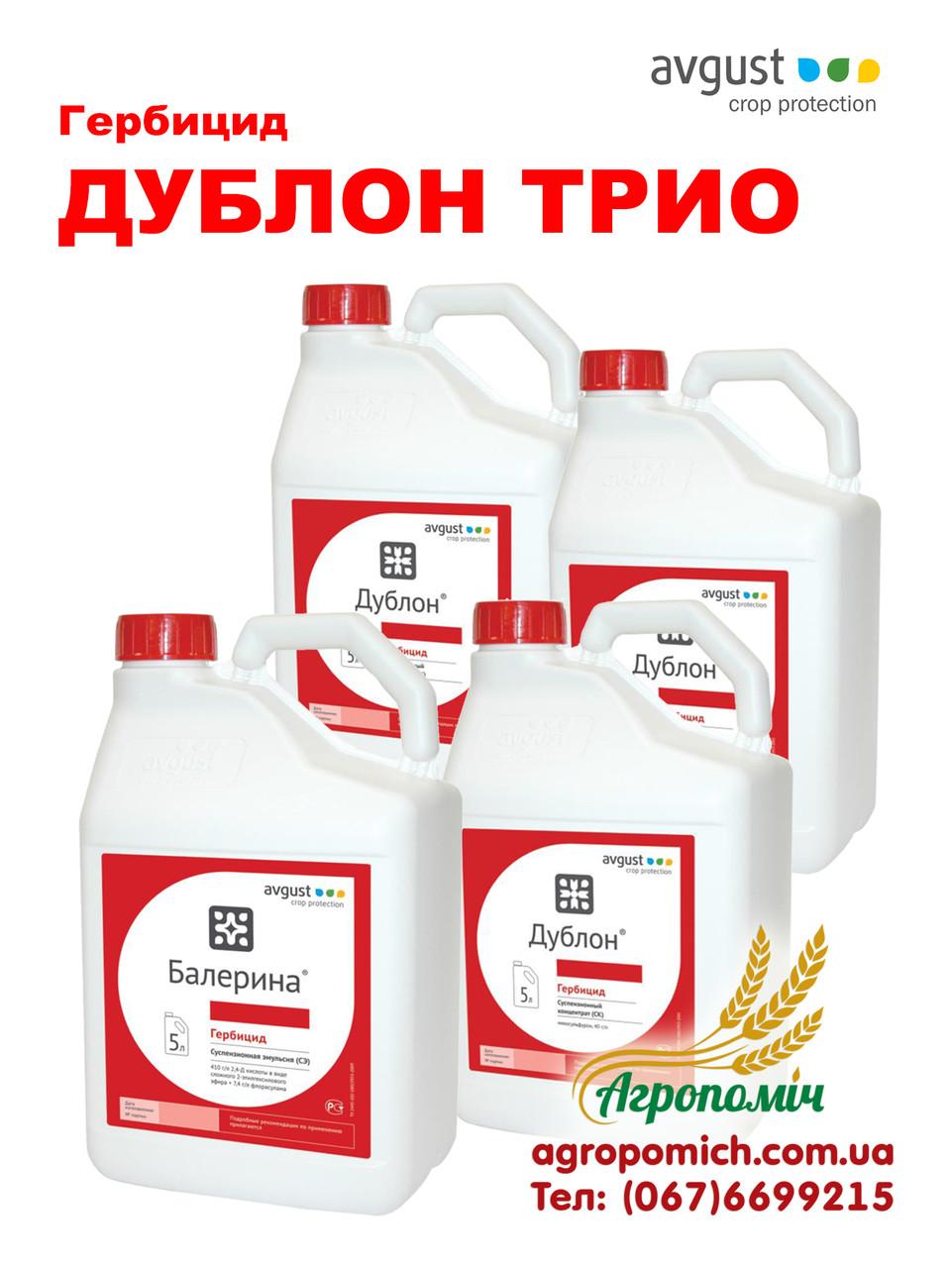 Комплекс гербицидов ДУБЛОН ТРИО (Балерина +Дублон), Август
