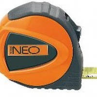 Рулетка, стальная лента, NEO  67-123, 67-125