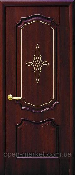 Модель Рока без стекла Гравировка Gold межкомнатные двери, Николаев