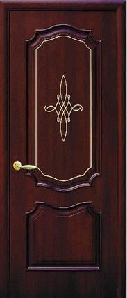 Модель Рока без стекла Гравировка Gold межкомнатные двери, Николаев, фото 2