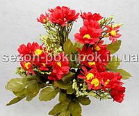 Букет ромашек (29-30 цветочков) Цвет - красный Цена за букет