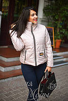 Бежевая демисезонная куртка, батал. 5 цветов.