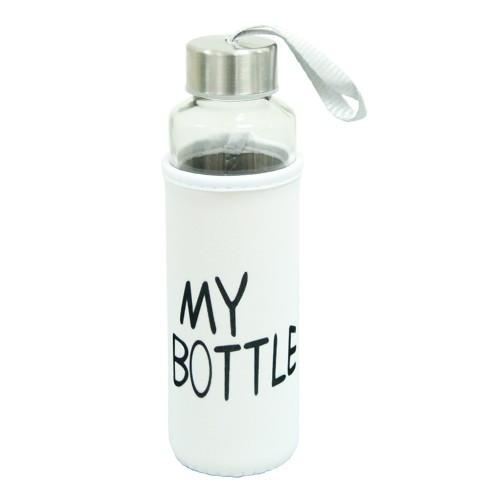 """Термобутылка в чехле «My bottle» 400 мл (Белый чехол) - Интернет-магазин """"MERRY-SHOPPING"""" в Киеве"""