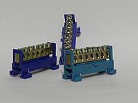 Шина нулевая изолированная в корпусном изоляторе на DIN-рейку на 7 отверстий