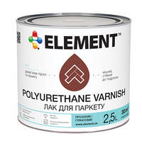 Лак для паркета ELEMENT Polyurethane varnish полуматовый