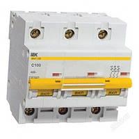 Автоматичний вимикач ВА 47-100 3Р 63А 10 кА характеристика С ІЕК