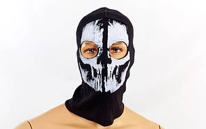 Балаклава-маска Скелет  Devastator (коттон, черный)