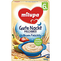 Milupa Gute Nacht Milchbrei Vollkorn-Früchte - Каша молочная Мультизлаковая со смесью фруктов,с 6 мес., 500 г