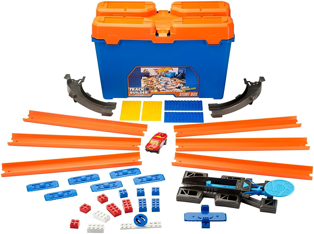Набор Хот Вилс Коробка для трюков Игра без границ Hot Wheels Track Builder Stunt Box