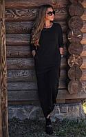 Стильно черное платье свободного кроя. Материал интерлок, рукава-турецкая резинка. Размер: s-XL