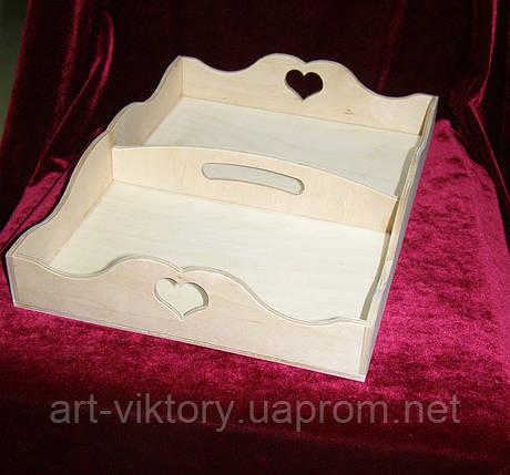Поднос, разнос сердечко с отсеками (35 х 25 см), фото 2