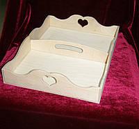 Поднос, разнос сердечко с отсеками (35 х 25 см)