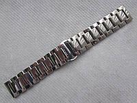 Браслет для часов из нержавеющей стали, черный, литой, полированный.  22 мм. Samsung Gear S3/ Frontier, фото 1