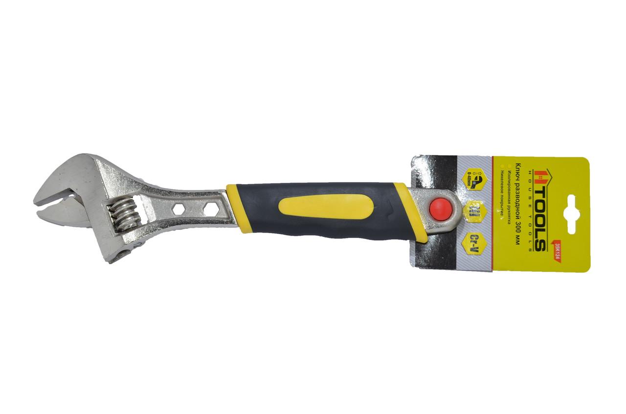 Ключ разводной 200 мм диапазон 0-24 мм HTools, 35K122