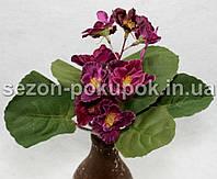 Букет фиалка (8 цветочков) Цвет - фуксия Цена за букет